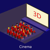 Κινηματογράφος isometric Στοκ Εικόνες