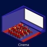 Κινηματογράφος isometric Στοκ φωτογραφία με δικαίωμα ελεύθερης χρήσης