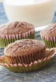 Κινηματογραφήσεις σε πρώτο πλάνο muffins σοκολάτας Στοκ Εικόνες