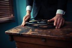 Κινηματογραφικός παραγωγός με το εξέλικτρο Στοκ φωτογραφίες με δικαίωμα ελεύθερης χρήσης