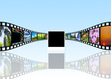 κινηματογραφικό εξέλικτρο βιομηχανίας κινηματογράφου έννοιας απεικόνιση αποθεμάτων