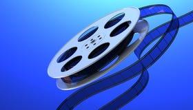 κινηματογραφικό εξέλικτρο βιομηχανίας κινηματογράφου έννοιας διανυσματική απεικόνιση