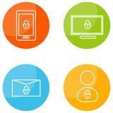 Κινητά εικονίδια ασφάλειας Στοκ εικόνες με δικαίωμα ελεύθερης χρήσης