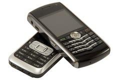 κινητά τηλέφωνα δύο Στοκ εικόνες με δικαίωμα ελεύθερης χρήσης