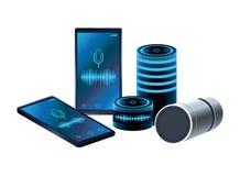 Κινητά τηλέφωνα και ομιλητές διανυσματική απεικόνιση
