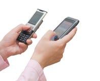 κινητά τηλέφωνα Στοκ εικόνες με δικαίωμα ελεύθερης χρήσης