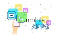 Κινητά apps στο smartphone Στοκ Εικόνα