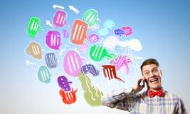 Κινητές κλήσεις Στοκ εικόνες με δικαίωμα ελεύθερης χρήσης