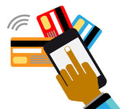 Κινητές πληρωμές και επικοινωνία Στοκ Εικόνα