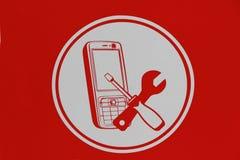 Κινητές τηλεφωνικές επισκευές εικονιδίων Στοκ φωτογραφία με δικαίωμα ελεύθερης χρήσης