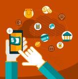 Κινητές τραπεζικές εργασίες συσκευών Στοκ Εικόνες