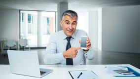 Κινητές τραπεζικές εργασίες app Στοκ Εικόνα