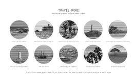 10 κινητήριες εικόνες του ταξιδιού απεικόνιση αποθεμάτων