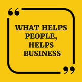 Κινητήριο απόσπασμα Ποιοι άνθρωποι βοηθειών, επιχείρηση βοηθειών Στοκ Εικόνα