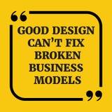 Κινητήριο απόσπασμα Το καλό σχέδιο μπορεί σπασμένα αποτύπωση επιχειρησιακά πρότυπα ` τ Στοκ Εικόνες
