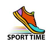 Κινητήριο ζωηρόχρωμο έμβλημα αθλητικού χρόνου Στοκ Εικόνες