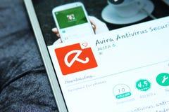 Κινητή ασφάλεια και αντιιός app Avira Στοκ Εικόνες