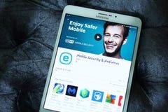 Κινητή ασφάλεια και αντιιός app Eset Στοκ φωτογραφίες με δικαίωμα ελεύθερης χρήσης