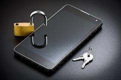 Κινητή ασφάλεια Smartphone στοκ φωτογραφίες