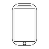 κινητή γραμμή τεχνολογίας smartphone κινητή Στοκ εικόνες με δικαίωμα ελεύθερης χρήσης