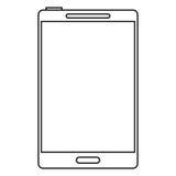 κινητή γραμμή τεχνολογίας smartphone Στοκ Φωτογραφία