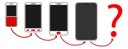 κινητή εξέλιξη τηλεφωνικών κουμπιών ελεύθερη απεικόνιση δικαιώματος