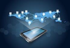 Κινητή επιχειρησιακή έννοια τηλεφωνικής τεχνολογίας Στοκ φωτογραφίες με δικαίωμα ελεύθερης χρήσης
