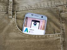 Κινητή εφαρμογή Adwords Google Στοκ εικόνες με δικαίωμα ελεύθερης χρήσης