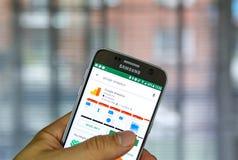 Κινητή εφαρμογή Analytics Google Στοκ Φωτογραφία