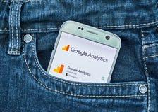 Κινητή εφαρμογή Analytics Google Στοκ φωτογραφίες με δικαίωμα ελεύθερης χρήσης