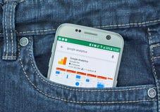 Κινητή εφαρμογή Analytics Google Στοκ φωτογραφία με δικαίωμα ελεύθερης χρήσης