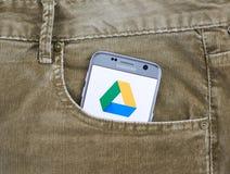 Κινητή εφαρμογή Drive Google Στοκ φωτογραφία με δικαίωμα ελεύθερης χρήσης