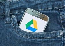 Κινητή εφαρμογή Drive Google Στοκ Εικόνες