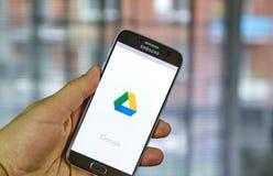 Κινητή εφαρμογή Drive Google Στοκ Εικόνα