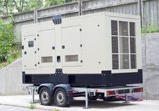 Κινητή εφεδρική γεννήτρια diesel για το κτίριο γραφείων στοκ φωτογραφία