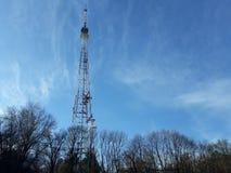 Κινητή κεραία τηλεφωνικών τηλεπικοινωνιών Στοκ εικόνες με δικαίωμα ελεύθερης χρήσης