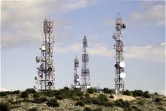 Κινητή κεραία τηλεφωνικών δικτύων στοκ εικόνα