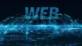 Κινητή μπλε ψηφιακή έννοια Διαδικτύου Ιστού 4k uhd απόθεμα βίντεο