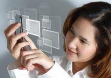 κινητή νέα τηλεφωνική αφή κυττάρων Στοκ Εικόνες
