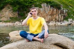 κινητή πέτρα ατόμων Στοκ φωτογραφίες με δικαίωμα ελεύθερης χρήσης