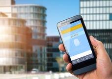 Κινητή πληρωμή με το έξυπνο τηλέφωνο Στοκ Φωτογραφία