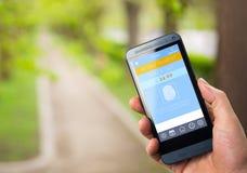 Κινητή πληρωμή με το έξυπνο τηλέφωνο Στοκ Εικόνες