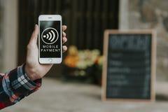 κινητή πληρωμή στοκ εικόνες με δικαίωμα ελεύθερης χρήσης