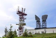 Κινητή σκιαγραφία τηλεφωνικών πύργων Στοκ Εικόνα