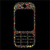 Κινητή τηλεφωνική μορφή διανυσματική απεικόνιση