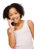 κινητή τηλεφωνική ομιλία κοριτσιών Στοκ φωτογραφία με δικαίωμα ελεύθερης χρήσης