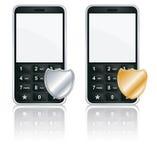 κινητή τηλεφωνική προστασία εικονιδίων Στοκ Εικόνες