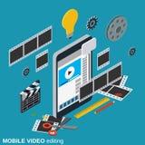 Κινητή τηλεοπτική παραγωγή, έκδοση, διανυσματική έννοια montage ελεύθερη απεικόνιση δικαιώματος
