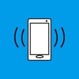 Κινητή τηλεφωνική δόνηση επίπεδο εικονίδιο διανυσματική απεικόνιση
