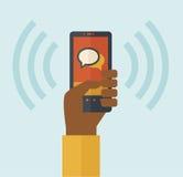 Κινητή τηλεφωνική δόνηση απεικόνιση αποθεμάτων
